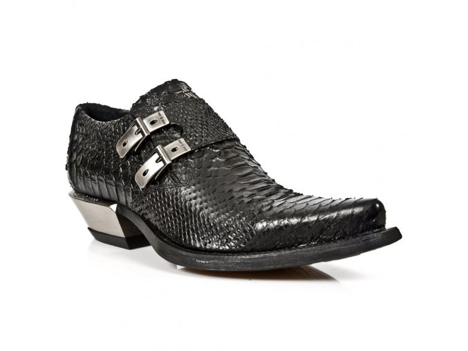 BOTY NEW ROCK M.7934-S2 PITON NEGRO, WEST NEGRO ACERO