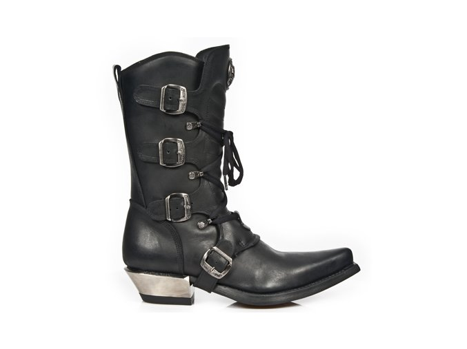 BOTY NEW ROCK M.7993-S1 ITALI NEGRO, WEST NEGRO ACERO