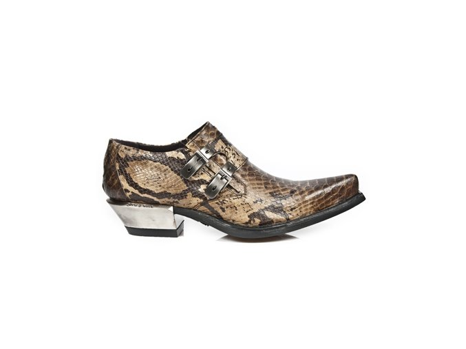 BOTY NEW ROCK M.7934-C5 SNAKE CUERO, WEST NEGRO ACERO