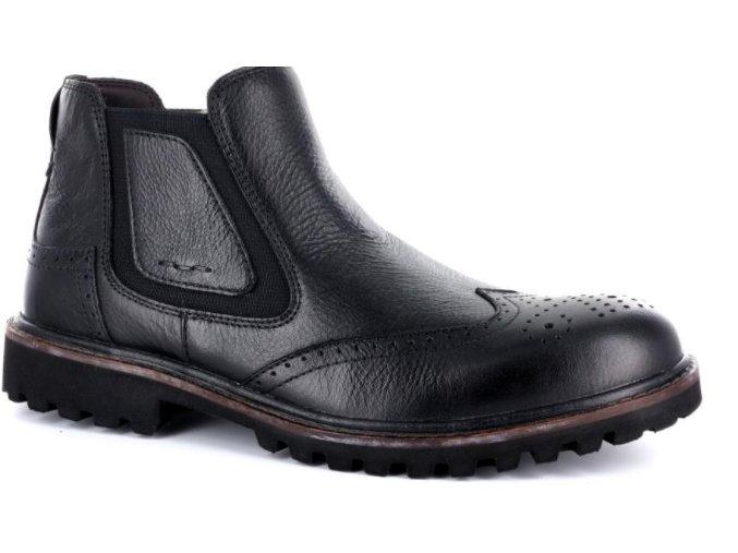 Pánské kotníčkové boty BSL 14021TRI NERO