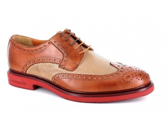 Pánské společenské boty BENSON 90235 CUOIO/AVARIO