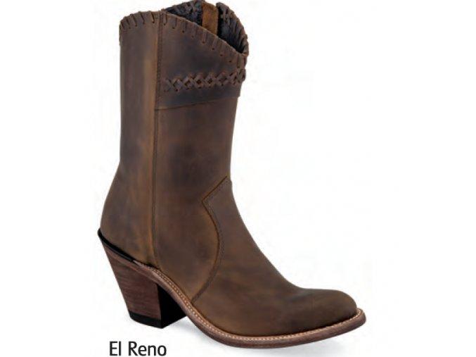 Westernové boty Jama Old West 18154 EL RENO Brown pull up