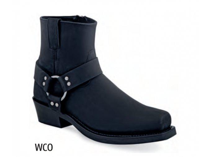 Pánské westernové boty Jama Old West MB2057 WCO BLACK DISTRESS black