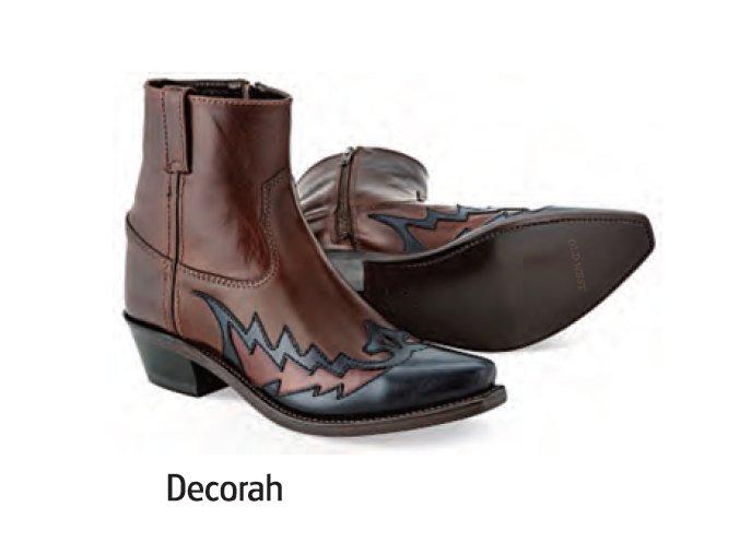 WEsternové boty Jama Old West MF1511 DECORAH Brown/Black