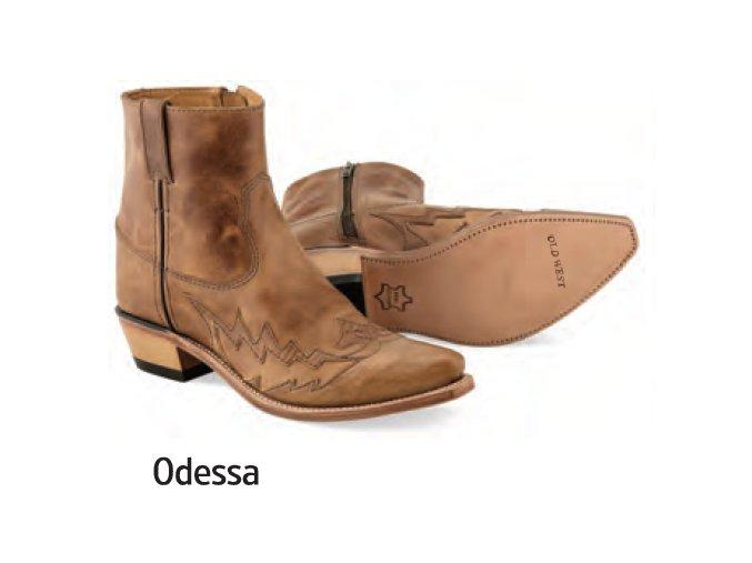 Westernové boty Jama Old West MF1512 ODESSATan Fry