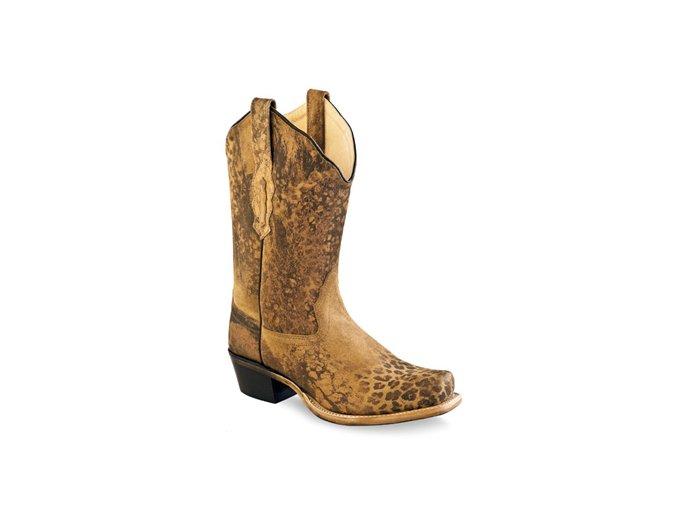 Jama Old West 18009E  GREELEY LEOPARD PRINT dámská westernová obuv