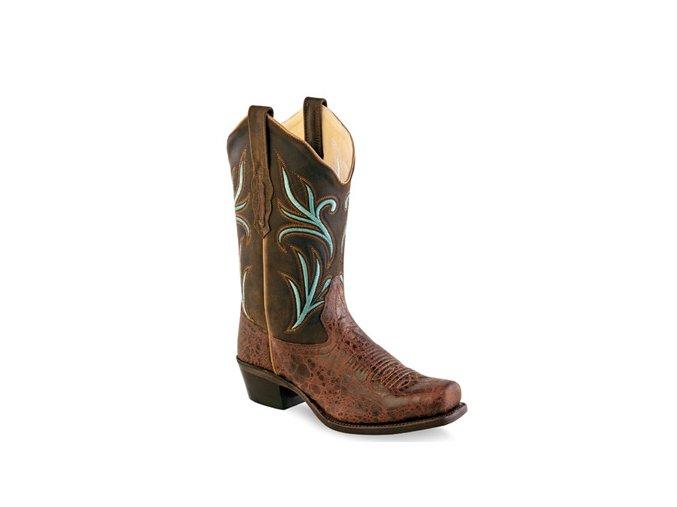 Jama Old West 18010E PUEBLO BROWN TRUFFLE dámská westernová obuv