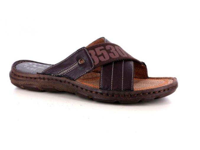Pánské letní pantofle PER UOMO 7044 T.MORO