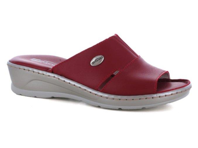 Dámské kožené pantofle FLORANCE 22505PI ROSSO