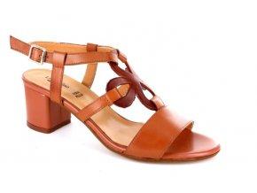 Dámské letní sandály Linea Uno 105 CUOIO/TAN