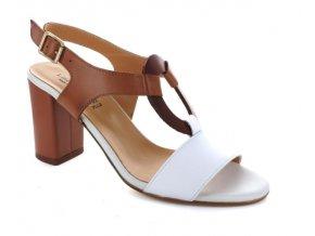 Dámské letní sandály Linea Uno 107 BIANCO/CUOIO