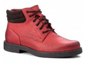 Dámská zimní kotníková obuv WASAK 408 RED