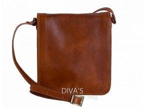 Dámská kožená kabelka DIVAs MESSENGER BAG MILANO -různé barvy