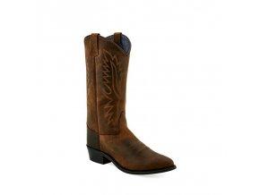 Jama Old West LF 1511 E BROWN PULL UP dámská westernová obuv