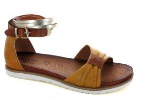 Dámské letní sandály ELLEN BLAKE 7291 GIALLO/BRANDY