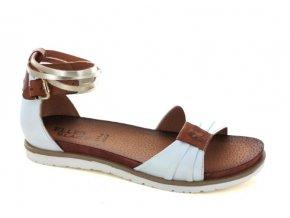 Dámské letní sandály ELLEN BLAKE 7291 BIANCO/BRANDY