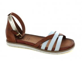 Dámské letní sandály ELLEN BLAKE 7284 BIANCO/BRANDY