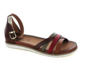 Dámské letní sandály ELLEN BLAKE 7284 CASTAGNO/BRANDY