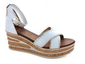 Dámské letní sandály ELLEN BLAKE 7205 BIANCO/PLATINO