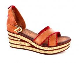 Dámské letní sandály ELLEN BLAKE 7205 BRANDY/CORALLO