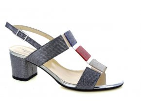 Dámské společenská obuv LINEA UNO 1318 NERO/BEIGE/ROSSO