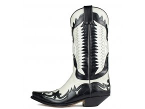Westernová obuv SENDRA 3840 CUERVO LACA NEGR- LACA HIELO