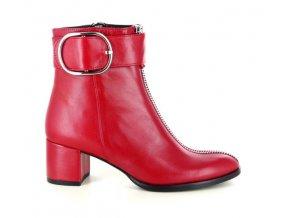 Dámská kotníčková obuv LINEA UNO 1043 ROSSO
