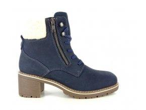 Dámská zimní kotníková obuv BSL WOMAN NUBUK 18263TRI BLUE GRAPHITE