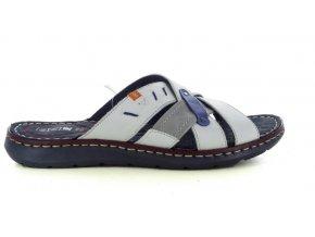 Pánské letní pantofle BSL PIO7401 BIANCO
