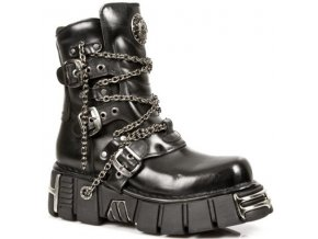 BOTY NEW ROCK M.1011-S1 Itali Negro, TOWER NEGRO ACERO ORIFICIO