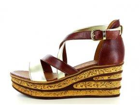 Dámské letní sandály ELLEN BLAKE 7210 PLATINO/CASTAGNO