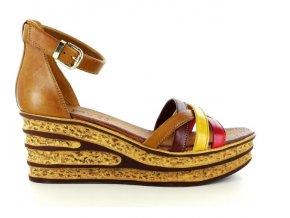 Dámské letní sandály ELLEN BLAKE 7211 BRANDY/ROSSO/GIALLO