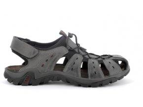Pánské sandály IMAC 503860 GRIGIO/ROSSO