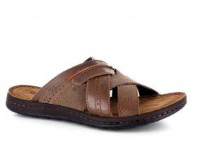 Pánské letní pantofle GEMINY 05360 CAFFE
