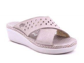 Dámské kožené pantofle ROBERT 416201 GRIGIO PIETRA