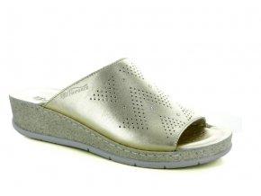 Dámské kožené pantofle FLORANCE 212285PI PLATINO