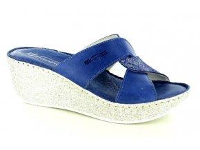 Dámské kožené pantofle FLORANCE 392081PI BLU JEANS