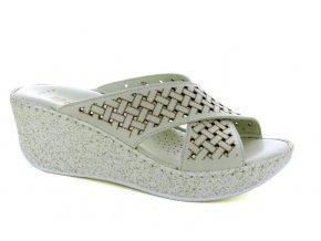 Dámské kožené pantofle FLORANCE 392261PI AVORIO