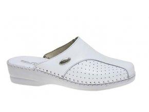 Dámské kožené pantofle FLORANCE 23003 BIANCO