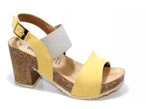 Dámské sandály BIO COLORS 277A013 OCRA-LINO