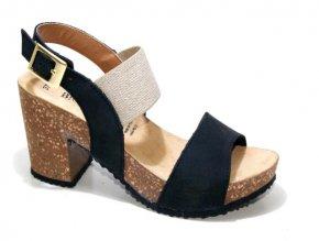Dámské sandály BIO COLORS 277A013 NERO-LINO