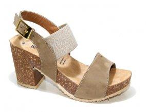 Dámské sandály BIO COLORS 277A013 TAUPE-LINO