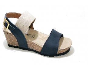 Dámské sandály BIO COLORS 258A110 BLU-LINO