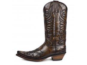 Westernová obuv SENDRA 6056 JAVI BRITNES FLO MARRON