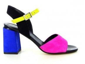 Dámské společenská obuv LINEA UNO 1137 OLEANDRO/BANANA/NERO