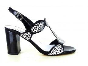 Dámské společenská obuv LINEA UNO 189 NERO/GIAGUARO
