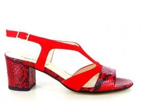 Dámské společenská obuv LINEA UNO 741 ROSSO
