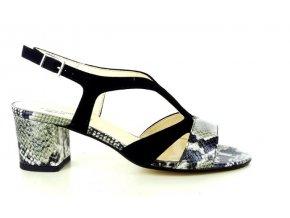 Dámské společenská obuv LINEA UNO 741 MUSCHIO/NERO