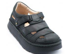Sandály LESTA UNISEX 3860 černá matná