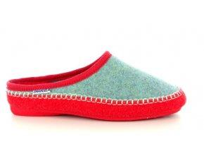 Dámská domácí obuv EMANUELE 1547 VERDE/CORALLO